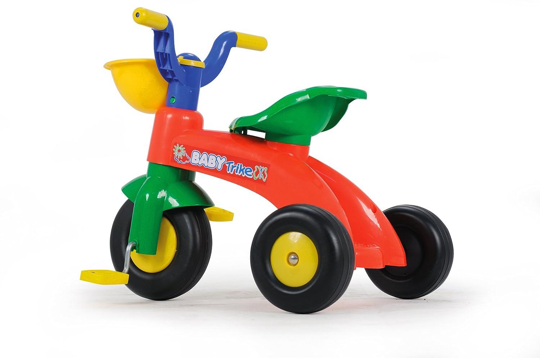 INJUSA Triciclo Trico Max para niños de 1 a 3 años, con cesta delantera y trasera, amarillo y azul (676008) 0702006