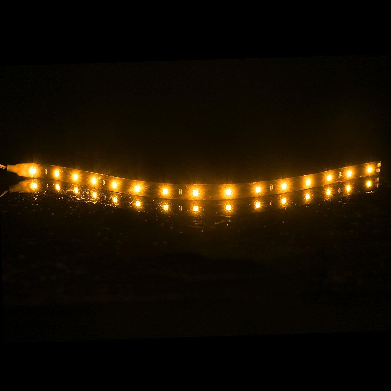 Amarillo FORNORM Ultra brillante LED luces de tira 30cm Luz de la atm/ósfera DC Kit de tira flexible DC 12V para Inicio Cocina Dormitorio Bar Coche