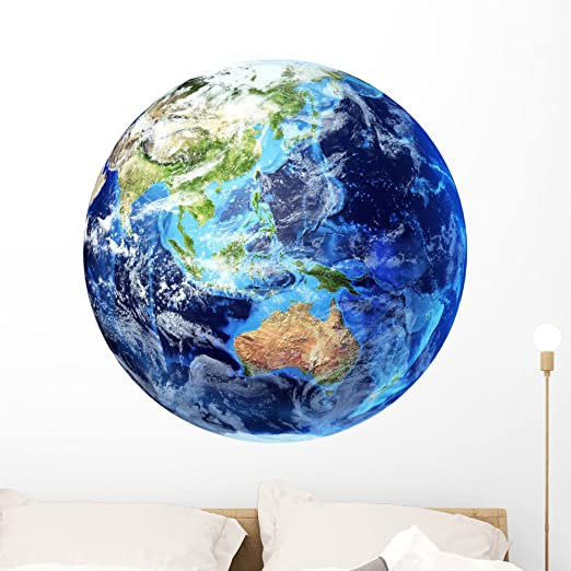 Watercolor Earth Wall Decal Removable Planet Space Sticker Childrens Room Decor Ebay