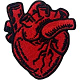 X-Ray Anatomical Heart Embroidered Badge Iron On Sew On Patch