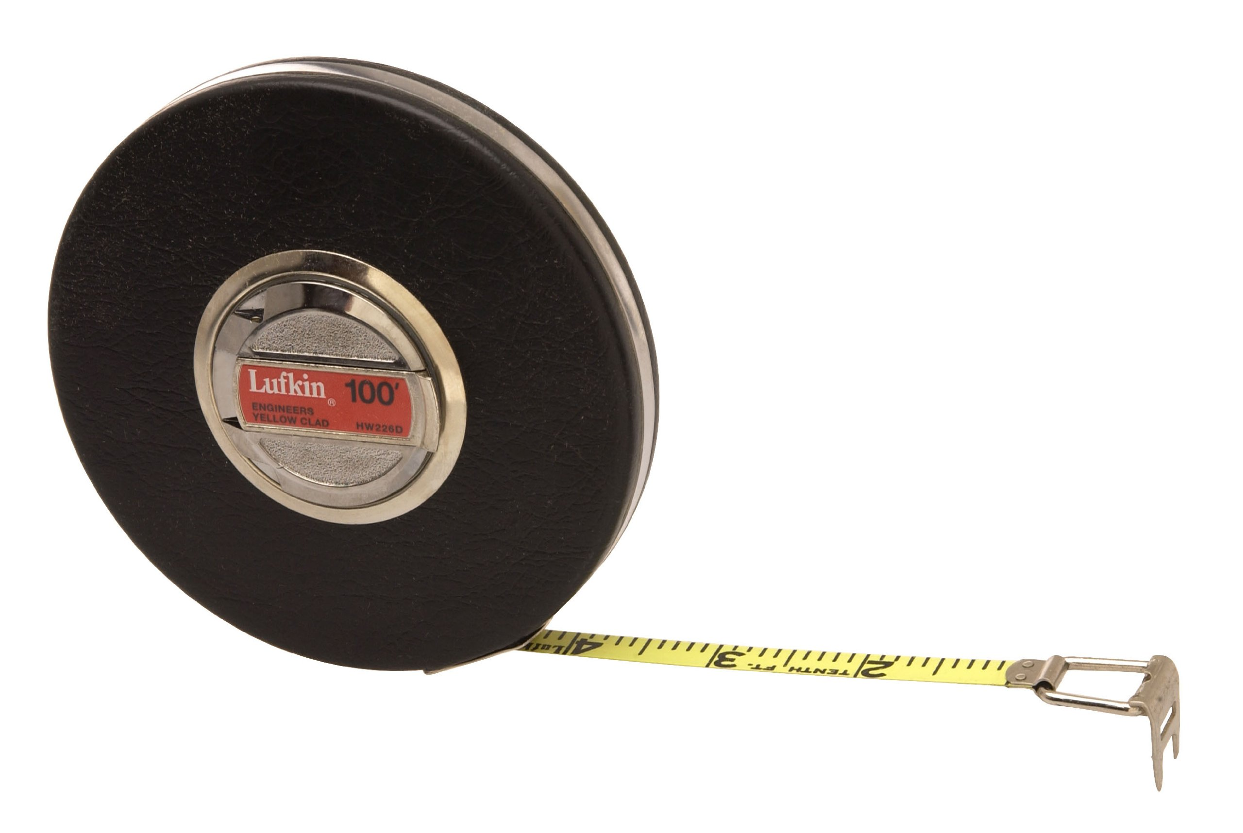 Lufkin HW226D 3/8-Inch x 100-Foot Engineer-Foot Banner Yellow Clad Tape