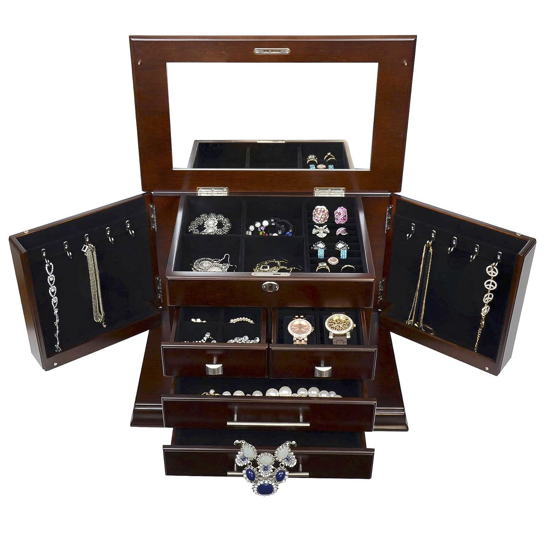 Amazoncom Arolly Large Modern Style Jewelry Box CASE STORAGE