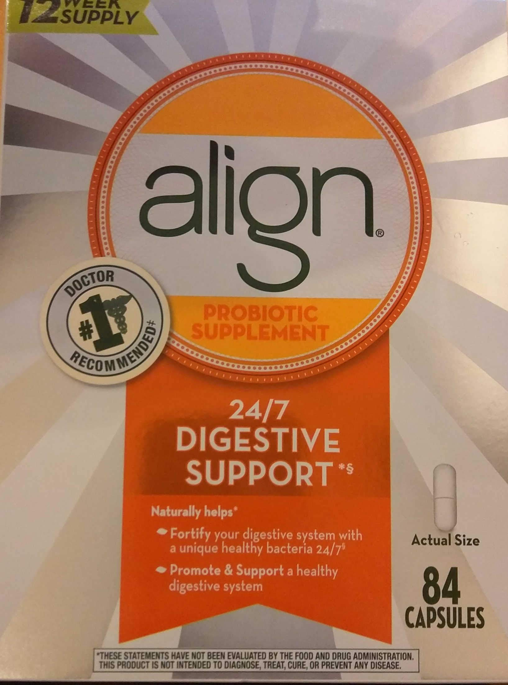 Align Daily Probiotic Supplement Capsules, 84 Count by Align