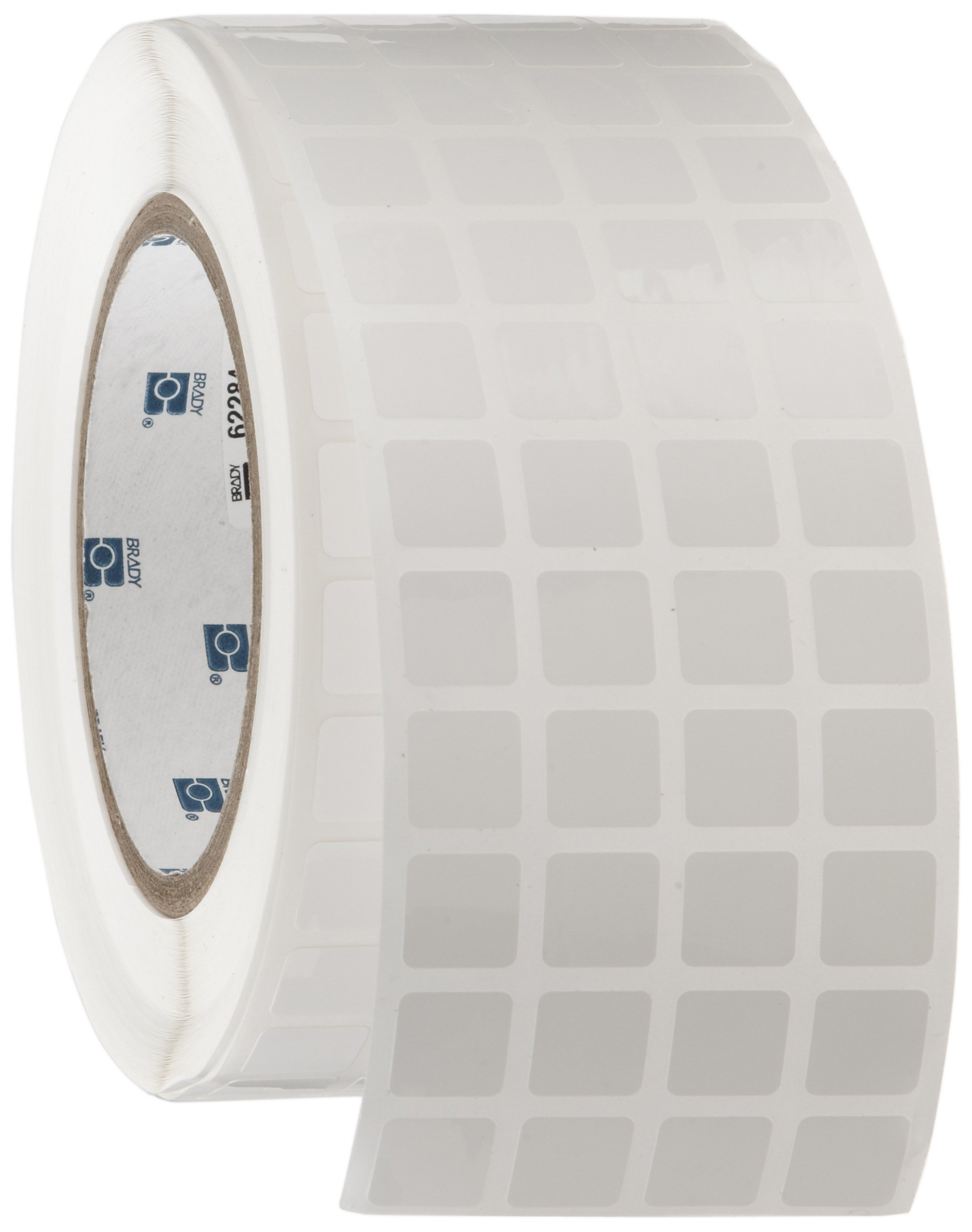 Brady THT-149-422-10 0.5'' Width x 0.5'' Height, B-422 Permanent Polyester, Gloss Finish White Thermal Transfer Printable Label (10000 per Roll) by Brady