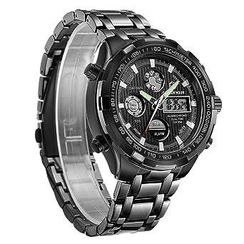 Amazon.com: Reloj de pulsera analógico digital para hombre ...