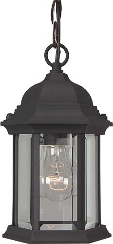 Craftmade Z291-TB Hex Style Outdoor Pendant Lighting, 1-Light 100 Watt 7 W x 11 H , Matte Black