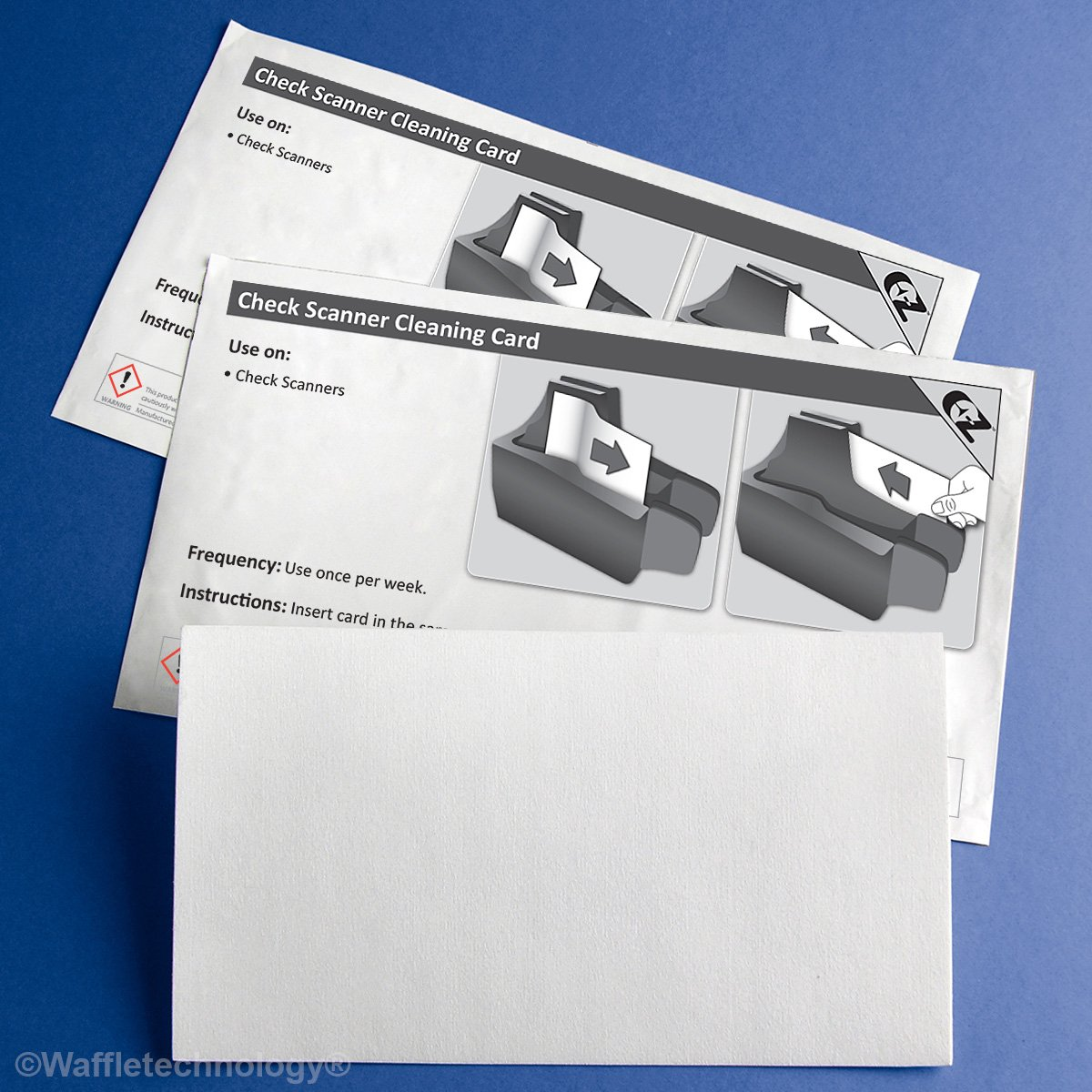 Check Scanner Cleaning Cards (25) by Waffletechnology