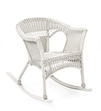Plow U0026 Hearth 39004 BWH Easy Care Outdoor Resin Wicker Rocker, Bright White Part 69