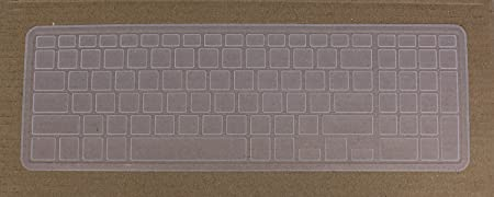 Saco Keyboard Silicon Protector Cover for Dell Vostro 3558 15.6 inch Laptop  Transparent Screen Protectors