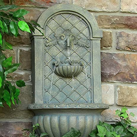 Delicieux Venetian Solar Wall Fountain   French Limestone
