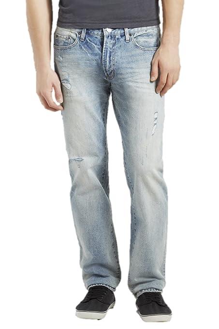 8e1611bd Aeropostale Men's Straight Destroyed Medium Wash Jean at Amazon Men's  Clothing store: