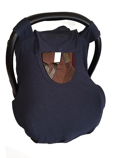 86af6eff3 Funda para porta bebe y cubre lactancia azul marino liso  Amazon.com ...