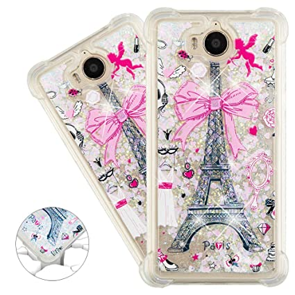 HMTECHUS Huawei Y5 2017 case 3D Pattern Quicksand Diamonds Floating Glitter  Flowing Liquid Shockproof Protect Silicone Cover for Huawei Y5 2017 / Y5