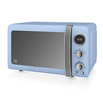 Amazon.com: Swan Retro Digital microondas, 20 l, 800 W, Azul ...