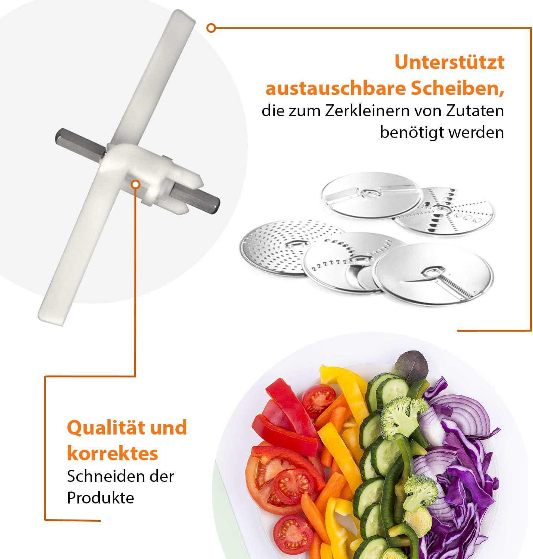 Durchlaufschnitzler Mitnehmer 00091027 Achse Schnitzelwerk Bosch Küchenmaschine