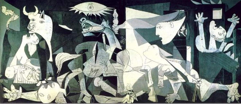 HENGCHENG Cuadro Arte Picasso Guernica Pinturas De Arte Famosas Imprimir En Lienzo Impresiones De Arte Reproducciones De Obras De Arte Picasso Cuadros De Pared Decoración del Hogar, 20X46Cm Sin