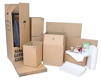 Casa eliminación Pack – 30 x todo rayo marca doble pared Flatpack cajas de cartón y