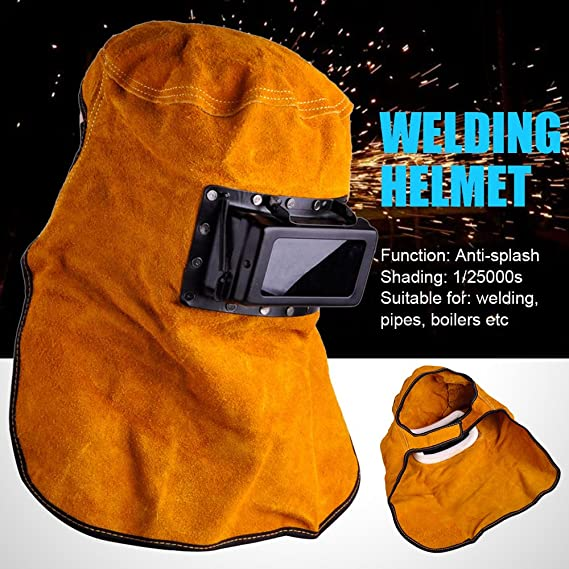 Solar Auto Darkening Filter Lens Welder Leather Hood Welding Helmet Mask New - - Amazon.com