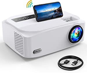5G WFi Projector, GROVIEW 8500L Full HD Native 1080P Projector Synchronize Smartphone Screen, Max 300