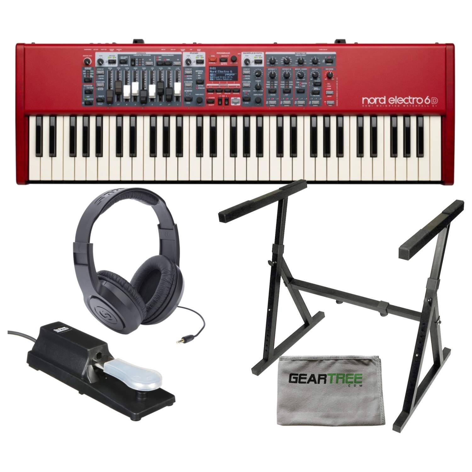 Nord ELECTRO 6D 61-Key Stage Piano & Organ w/Pedal/Stand, Headphones, Cloth by Nord