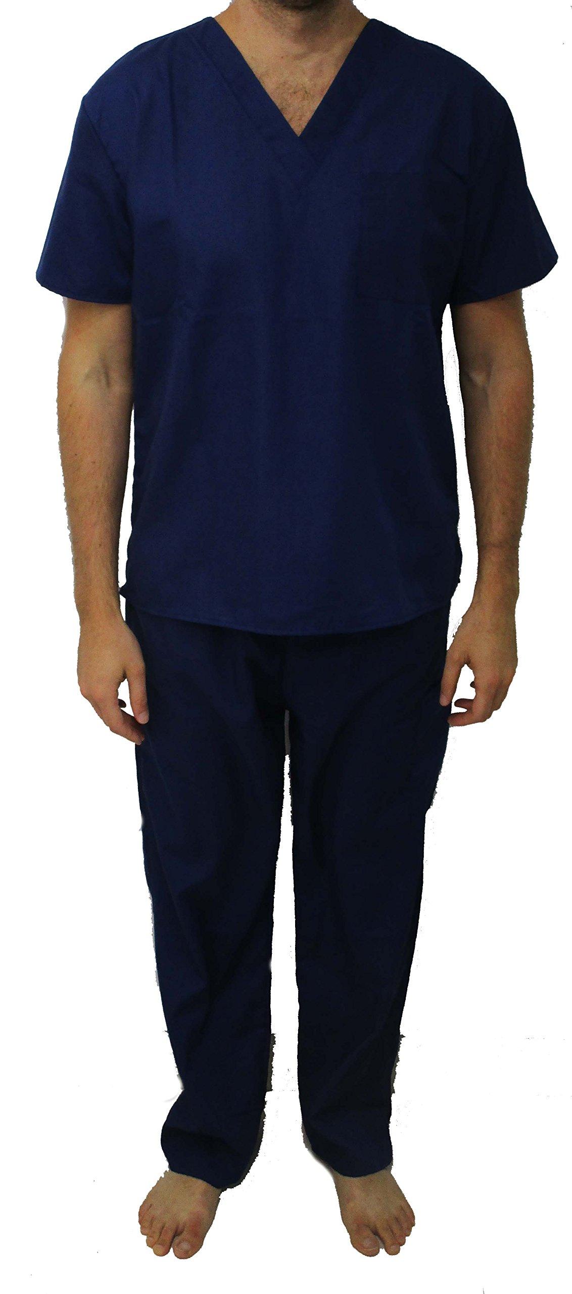 33300M-Navy-L Tropi Unisex Scrub Sets / Medical Scrubs / Nursing Scrubs by Tropi (Image #1)