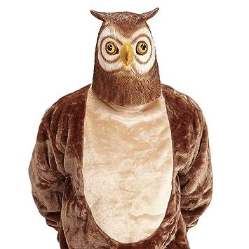 Antifaz búho Máscara lechuza Mascarilla ave Accesorio disfraz adulto Careta pájaro Cubre rostro carnaval mochuelo
