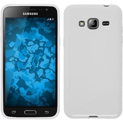 84 opinioni per PhoneNatic Custodia Samsung Galaxy J3 Cover bianco S-Style Galaxy J3 in silicone