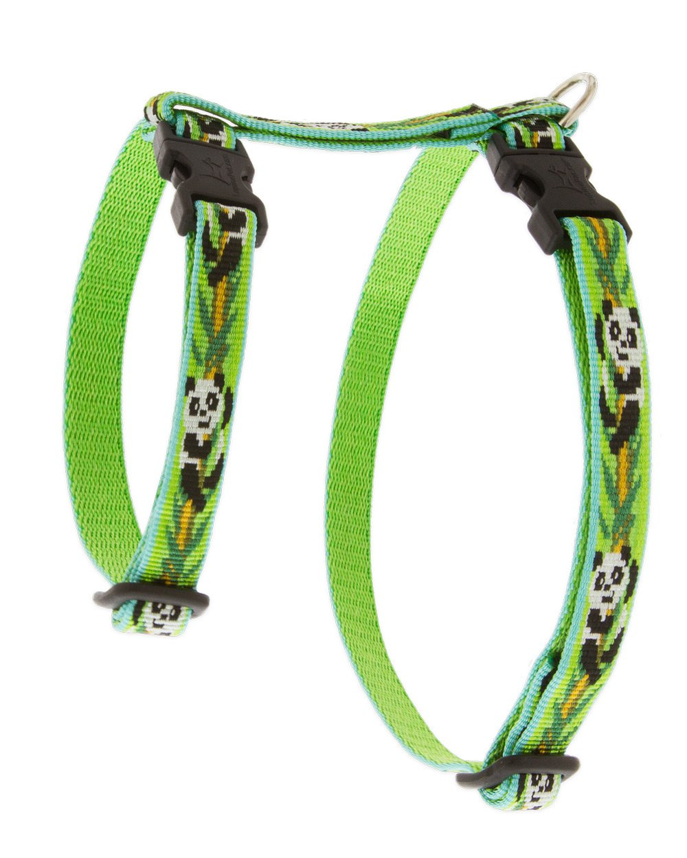 LupinePet Originals 1/2'' Panda Land 9-14'' H-style Harness for Small Pets by LupinePet (Image #1)