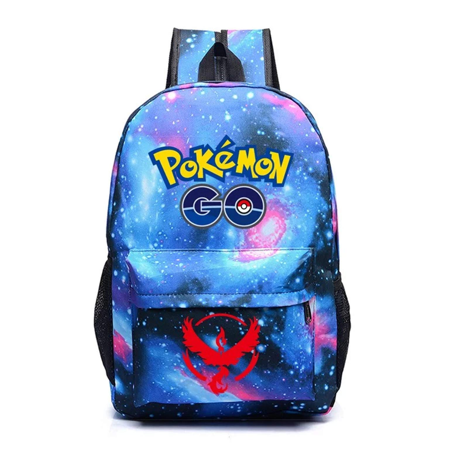 Kids Cartoon Pokémon Backpack School Rucksack Backpack for Boys Girls One Size by Ku-lee