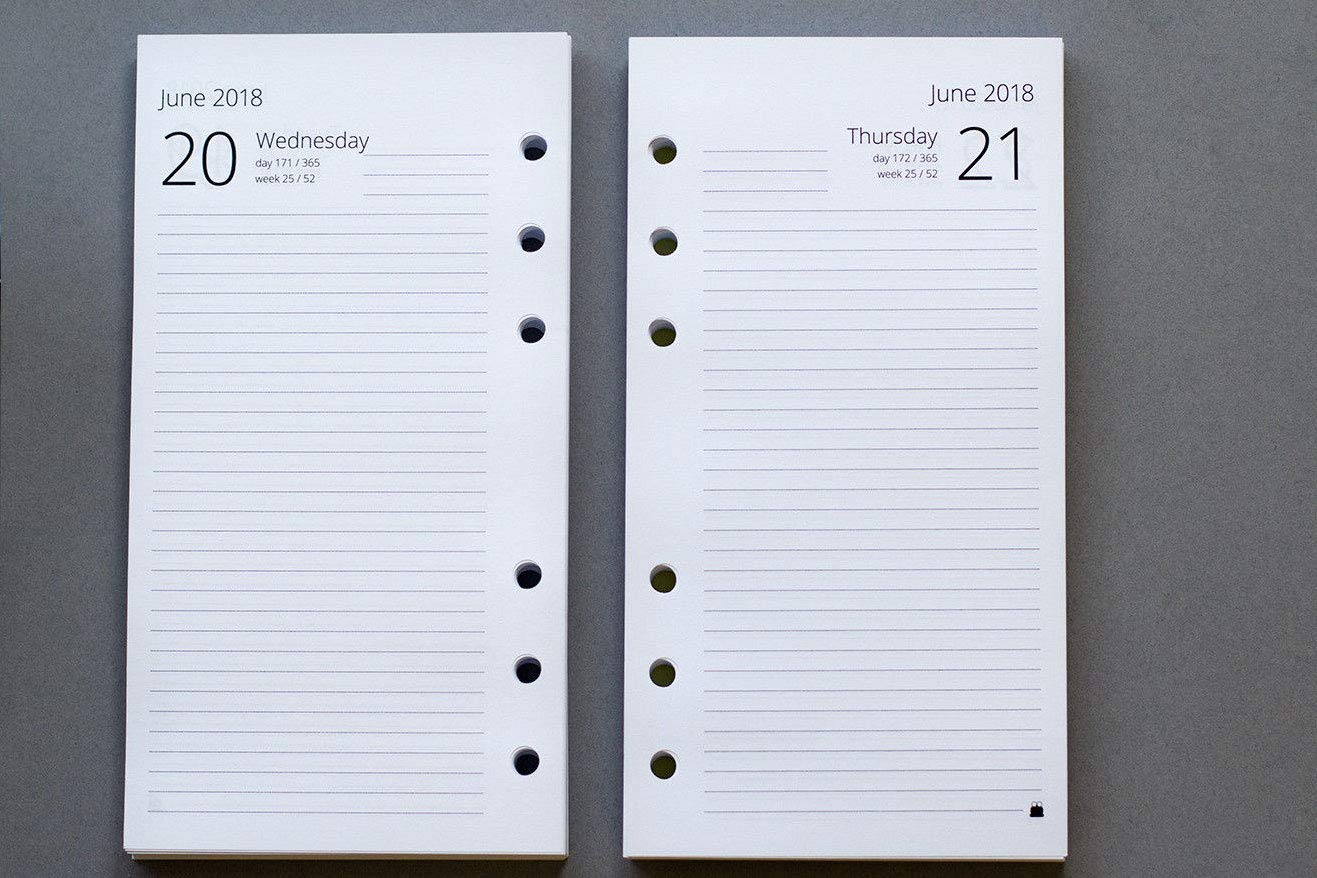 2019 Mid- Year Personal Size Day per Page Refills 2018-2019 Custom Start Month Personal - Starting April