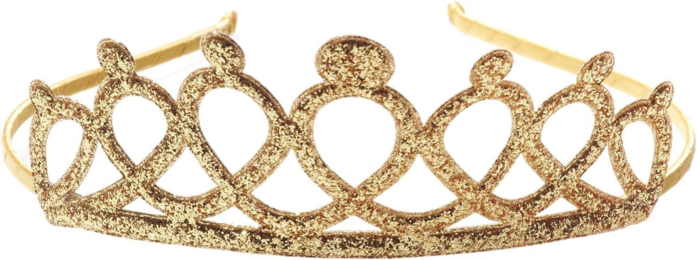 Gold Crown Style Tall Triple Band Metal Headband