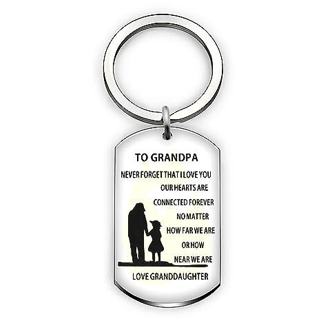 Llavero con colgante para abuelo de familia o nieto, no ...