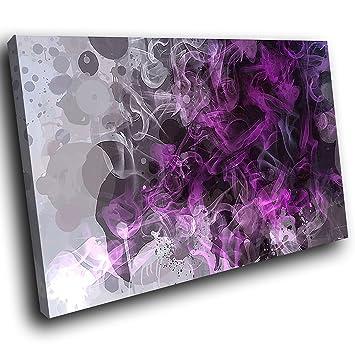 Entzuckend AB806A Gerahmte Leinwanddruck Bunte Wand Kunst   Lila Grau Schwarz Cool    Modernes Abstraktes Wohnzimmer
