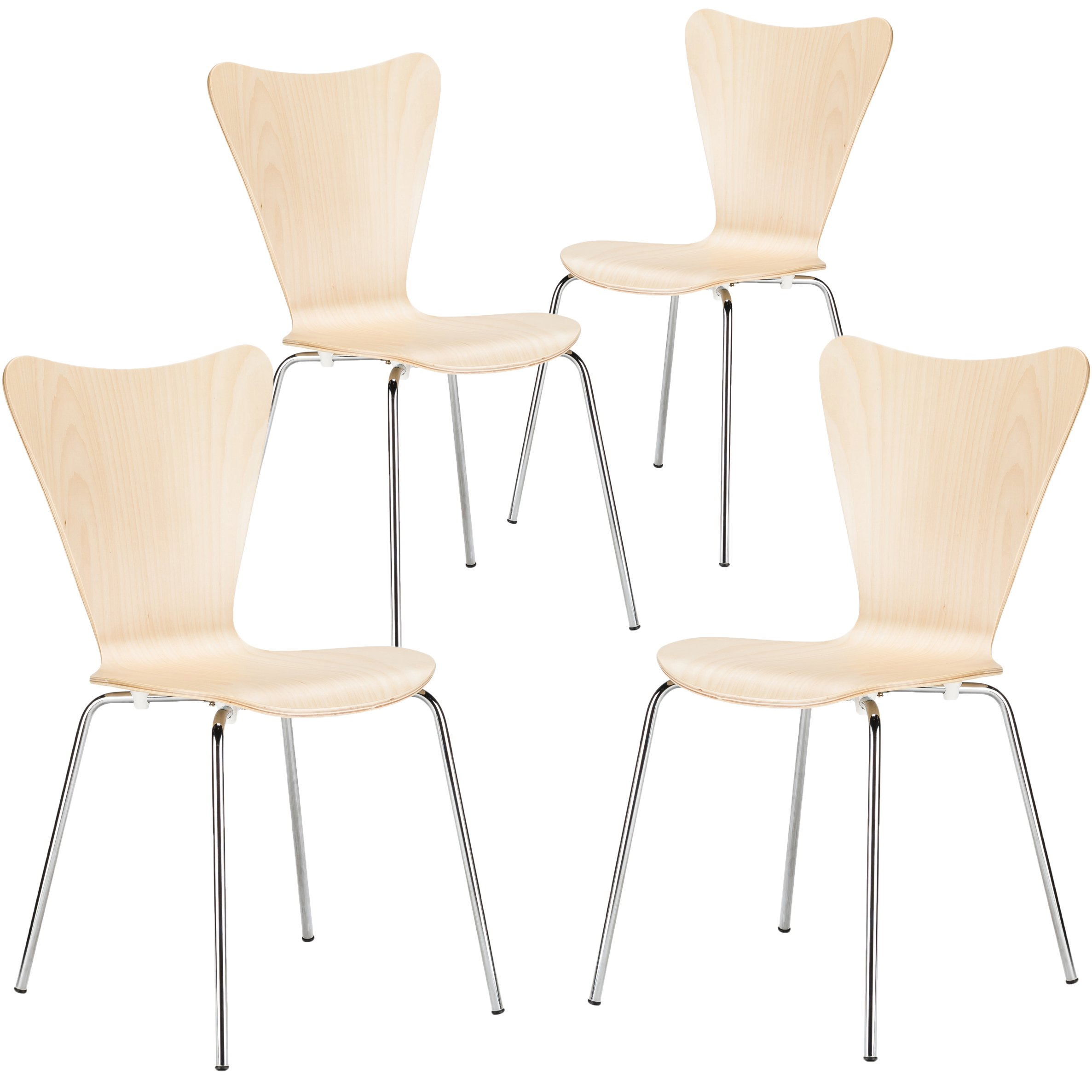 Poly And Bark Elgin Side Chair In Black Set Of 4