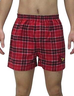 NCAA Louisville Cardinals MENS Plaid Sleepwear / Pajama Shorts L Multicolor