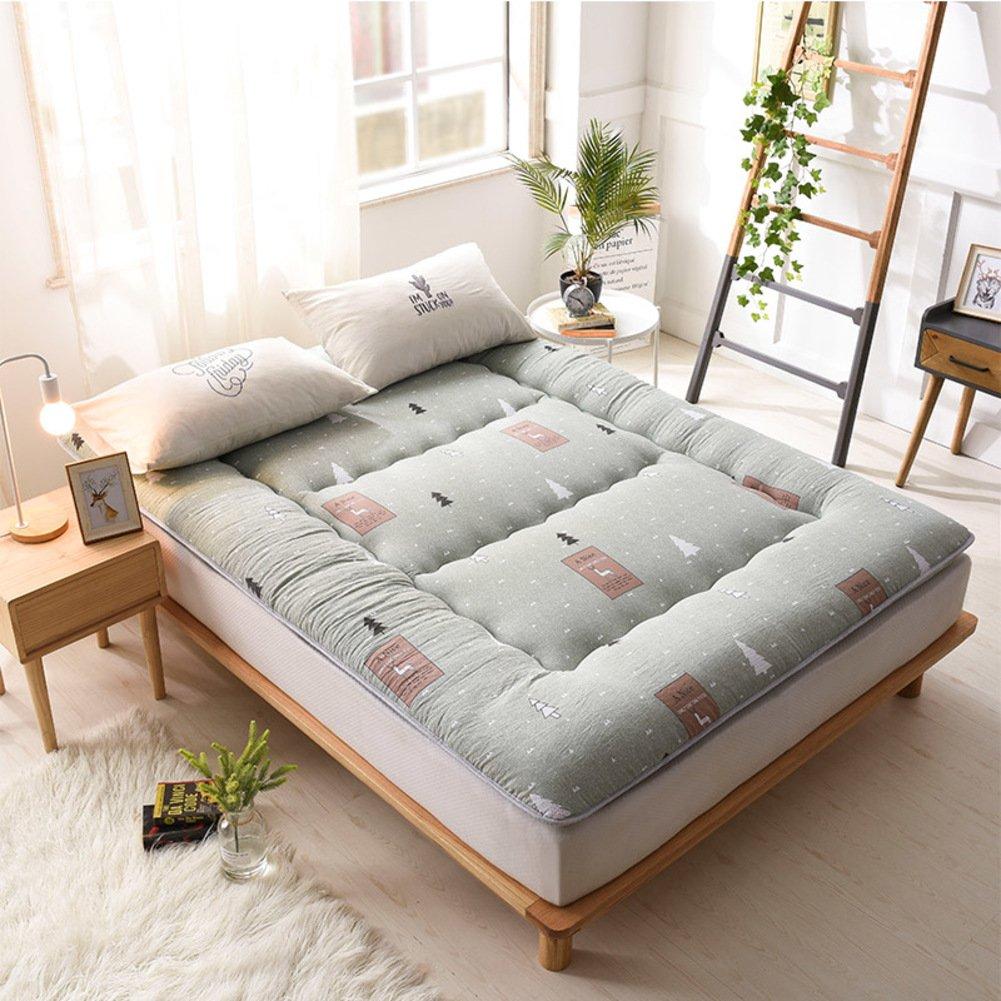 N 180x200cm(71x79inch) Japanese-Style Tatami Thicken Mattress with Four Seasons,Student Dormitory Floor Sleeping Mat Single Double Mattress-e 90x200cm(35x79inch)