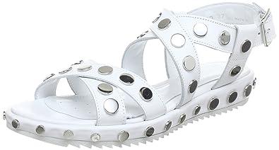 d8352af8a01ee2 Geox DANDELION D, sandales femme - Blanc - Weiß (WHITE C1000), 35 EU ...