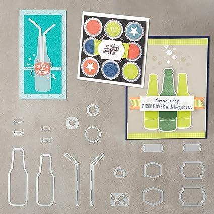 Schichten Metall Stanzschablone Scrapbooking Pr/ägung Schablone kreative runde Kreise zmigrapddn DIY Papierstanzschablone