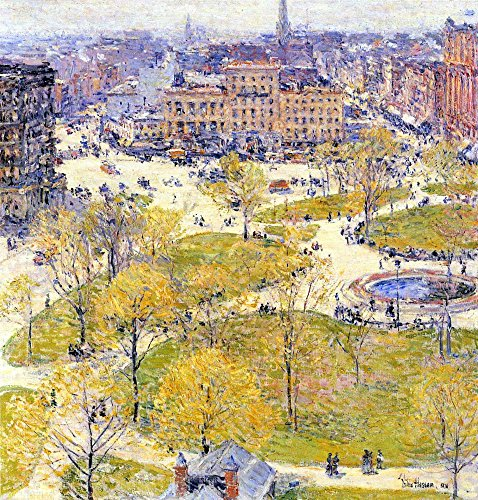 The Museum Outlet - Union Square in Spring by Hassam - Canvas Print Online Buy (30 X 40 Inch)