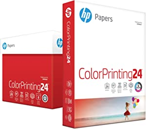 HP Printer Paper, ColorPrinting24, 8.5 x 11 Paper, Letter Size, 24lb Paper, 97 Bright, 2,400 Sheets / 6 Ream Carton (202040C) Acid Free Paper