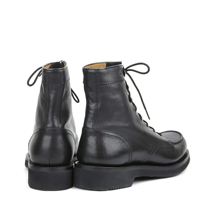 1743de6072f Amazon.com  Gucci Men s Black Leather Interlocking G Lace Up Boots 352955  1000 (11.5 G  12.5 US)  Shoes