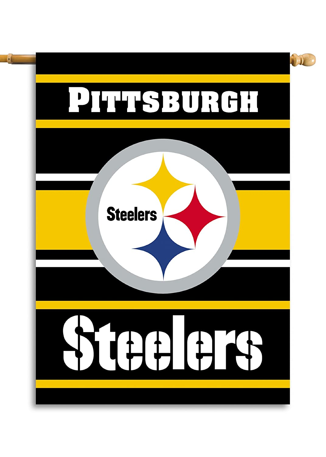 Fremont Die-94813B Inc. 2-Sided 28 X 40 Maison Banner - Pittsburgh Steelers