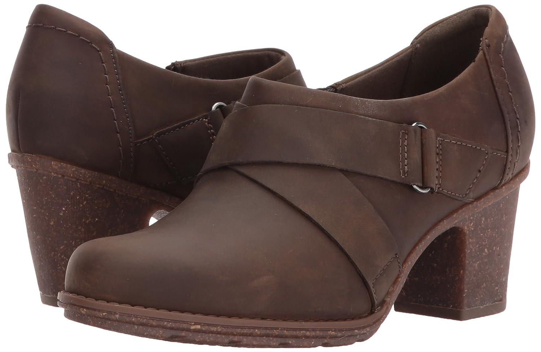 CLARKS Women's Sashlin Fiona Fashion Boot B072JLRSPR 9 W US|Olive Leather