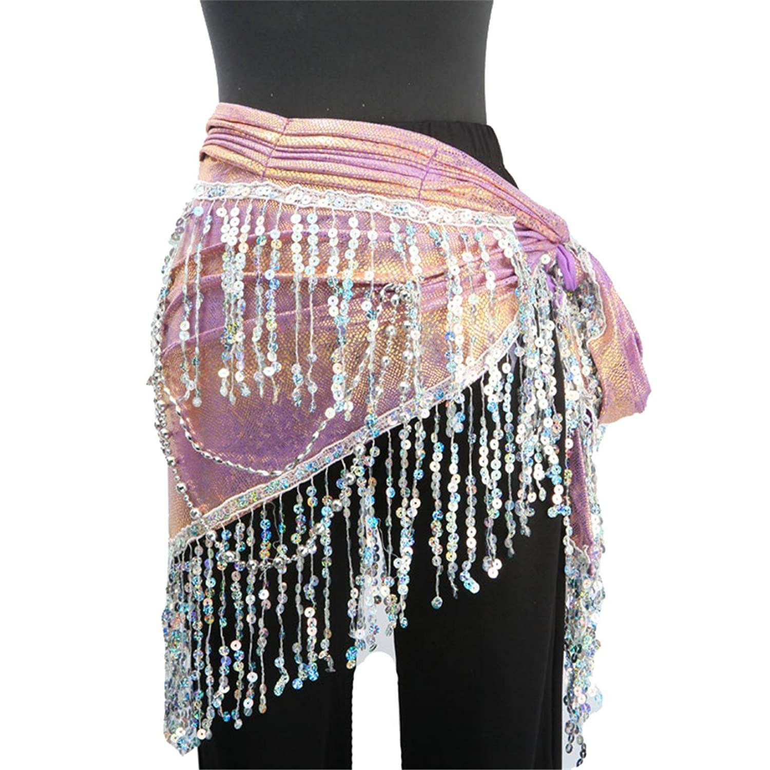 Belly Dancing Sequins Tassels Shimmy Belly Dance Hip Scarf Wrap Belts