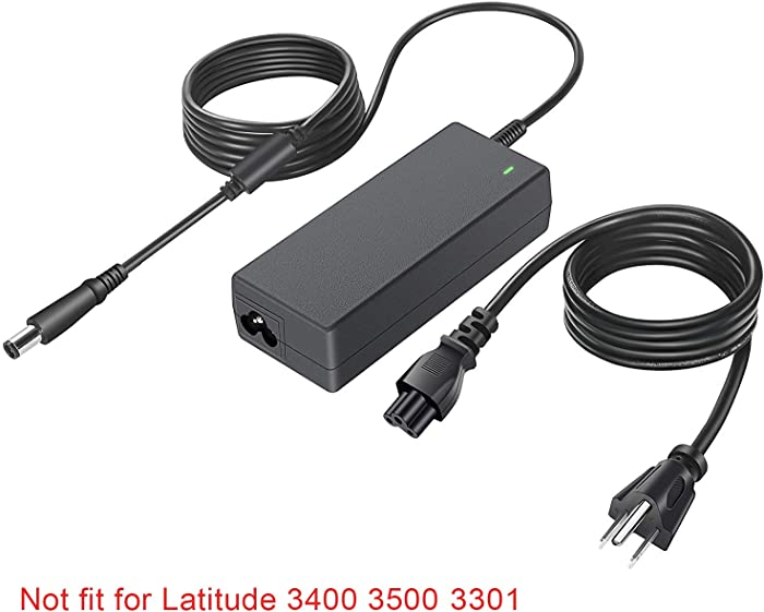 UL Listed AC Charger Fit for Dell Latitude 3540 3450 3550 3340 3440 3350 3330 3300 Vostro 3360 Laptop Power Supply Adapter Cord
