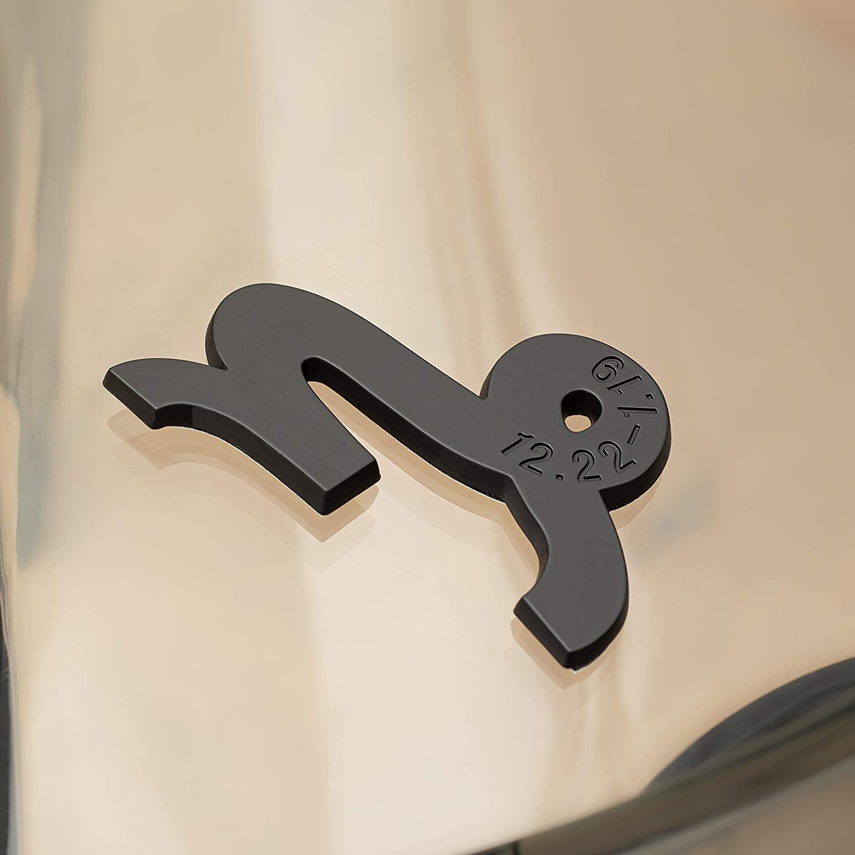 3 x 2 SUVs Trucks - Astrology Decal For Cars Capricorn 3D Matte Black Zodiac Auto Emblem -