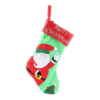SYMTOP Tamaño Grande Fieltro calcetín para Colgar de Navidad Calcetines de Papá Noel Adornos Decoraciones,