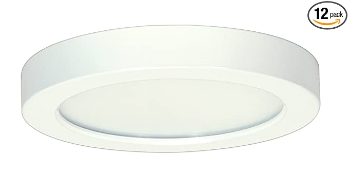Pack of 12) Satco Products S9328 Blink Flush Mount LED