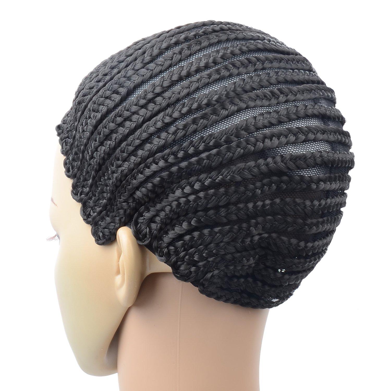 Razeal Clip in Cornrow Crochet Braided Wig Cap Adjustable Medium Size Crochet Wig Cap (U Part) by Razeal (Image #3)