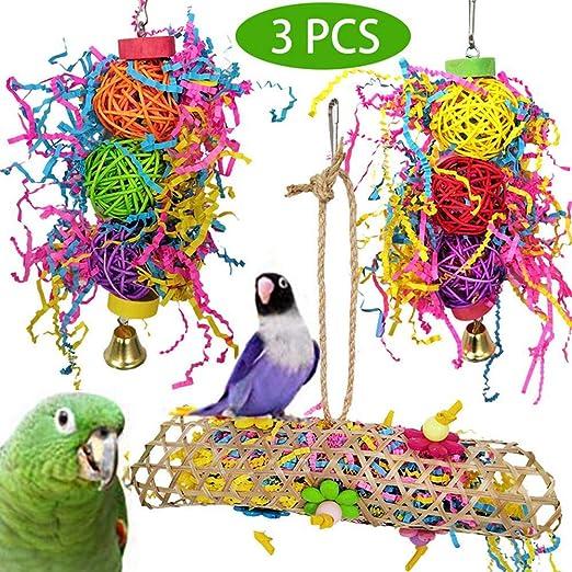 Umiwe 3 Piezas Juguetes para Pájaros Juguete para Rasgar Loros ...